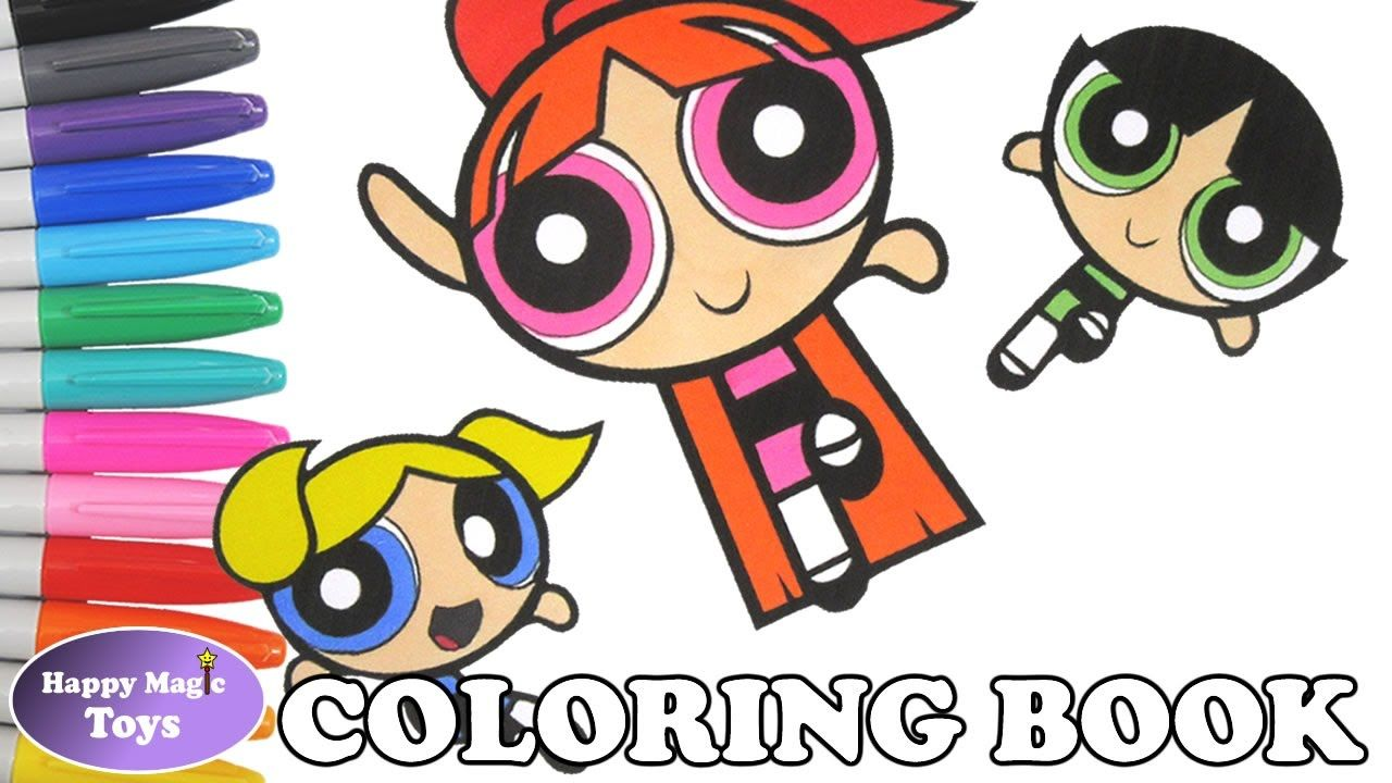 The Powerpuff Girls Coloring Episode 12 – Bubbles, Buttercup and ...