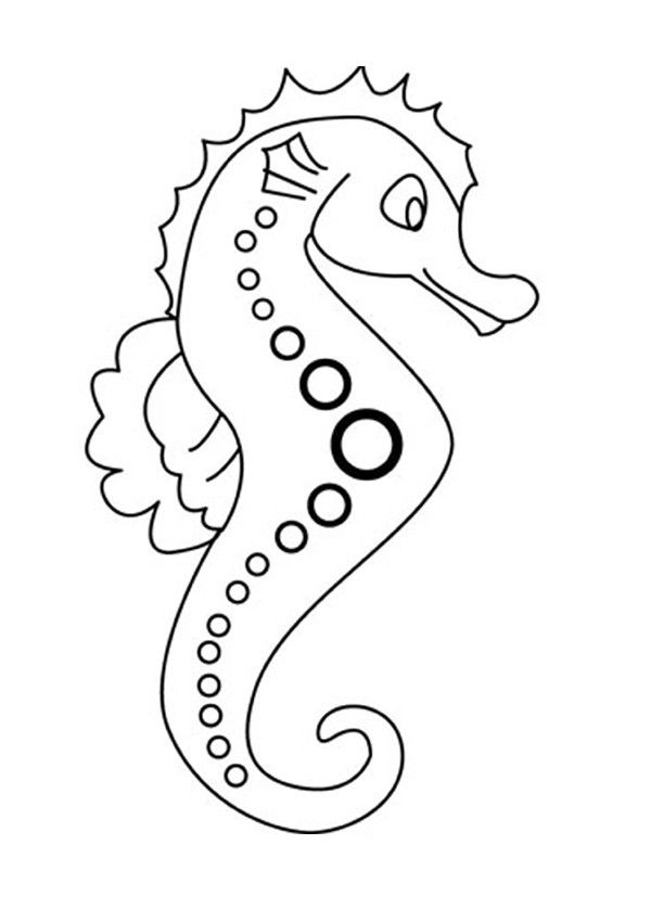 you can print out and color this seahorse coloring page or color online nice coloring