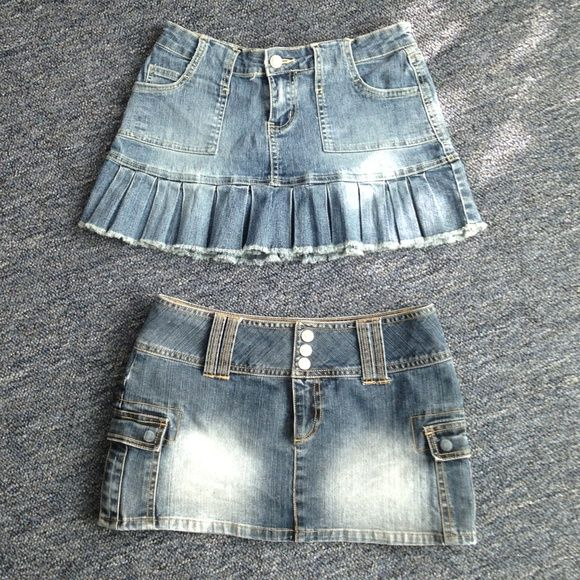 Bundle 2 Jean Skirts So cute and in excellent condition Dresses