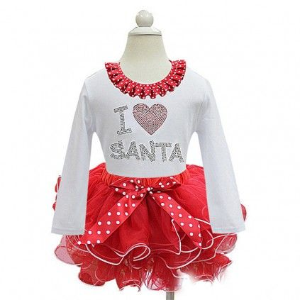 b217a3ecaf6b Shop online in India the gorgeous Santa Claus Christmas party dress for baby  girls.