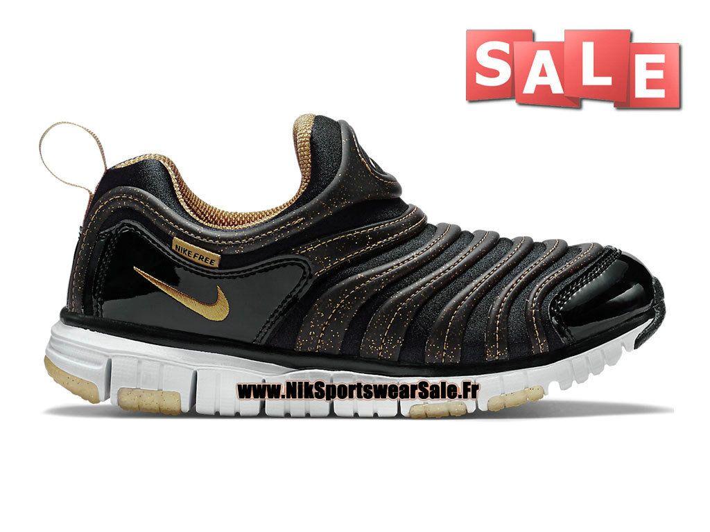 online retailer 1bf4c 2da8e Nike Dynamo Free PS - Chaussures Nike Pas Cher Pour Petit Garçon Noir Or  université