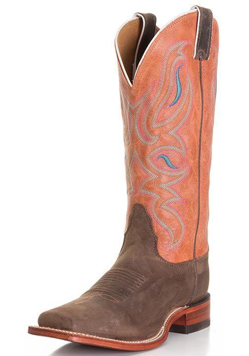 7472eee8b3e Nocona Women's Legacy Square Toe Cowboy Boots - Dark Brown Ponteggio ...