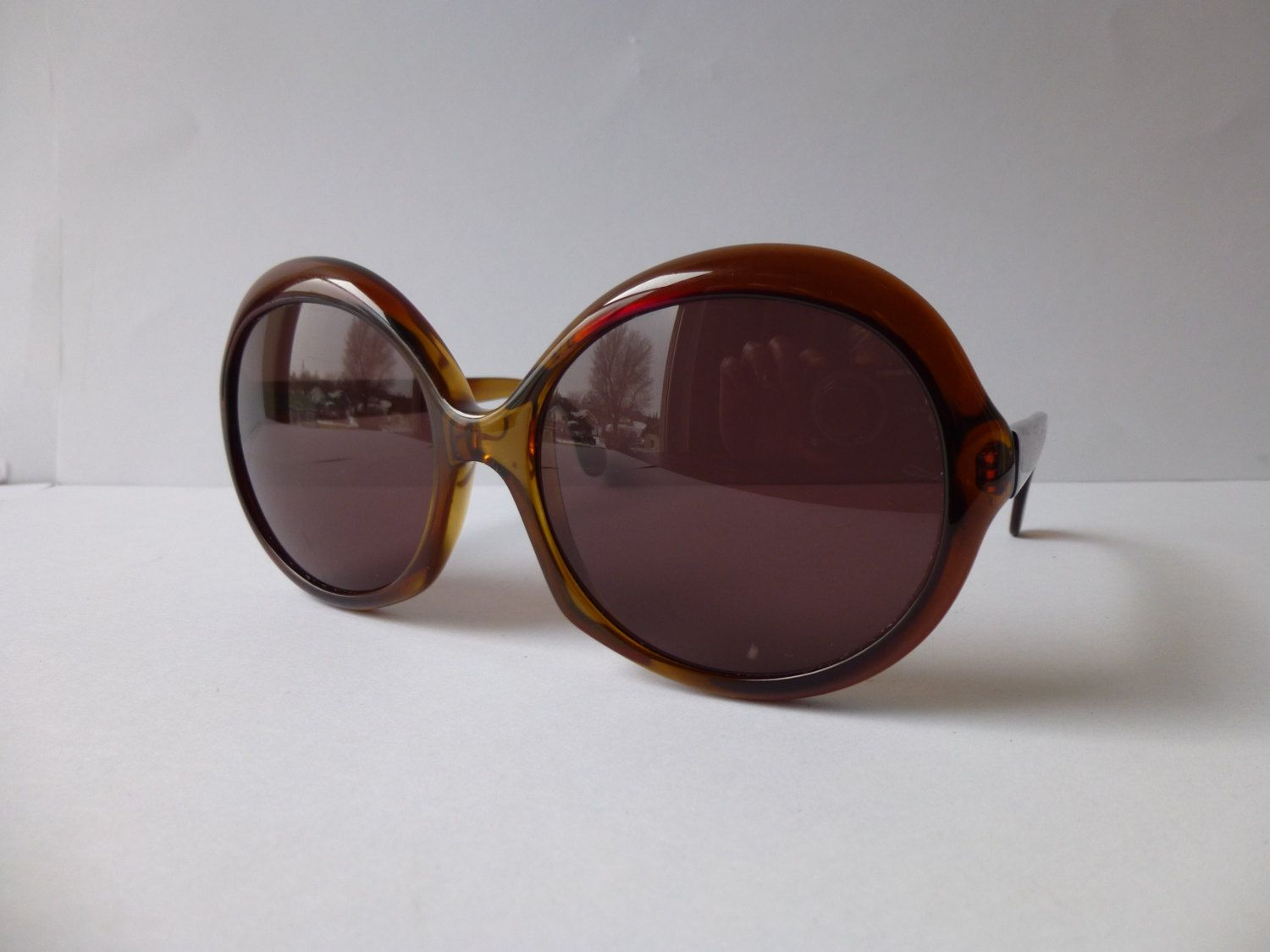 51e80855a4 Vintage 70s German Marwitz 125 Oversized Bug-Eye Chic Sunglasses Caramel  Frame Brown Purple Lenses Elegant Retro Shades Hipster Boho Germany by ...
