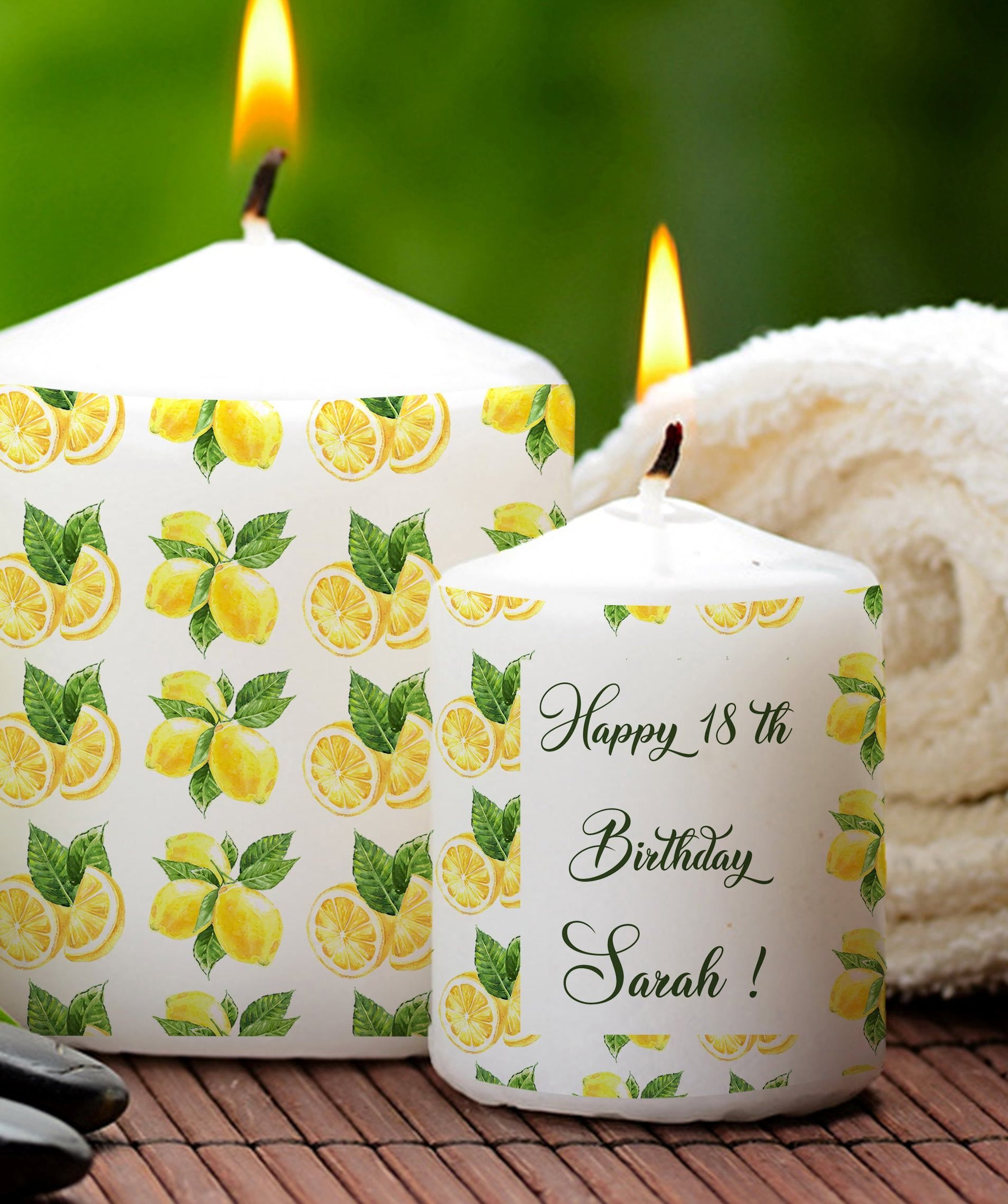 Personalized birthday gift happy birthday candle