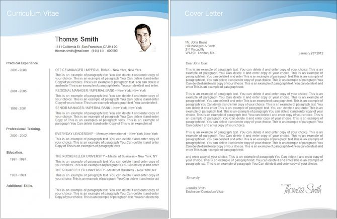 Resume 106040 - Premium line of Resume \ Cover Letter Templates - pages templates resume