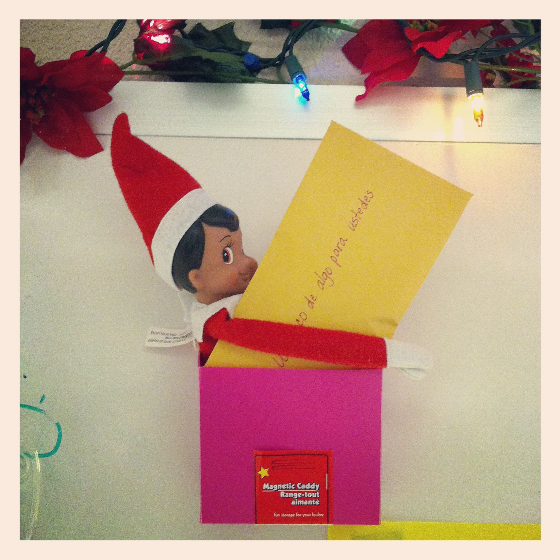 Have a letter delivered from santa asking the kids to write him a letter of what they want for christmas