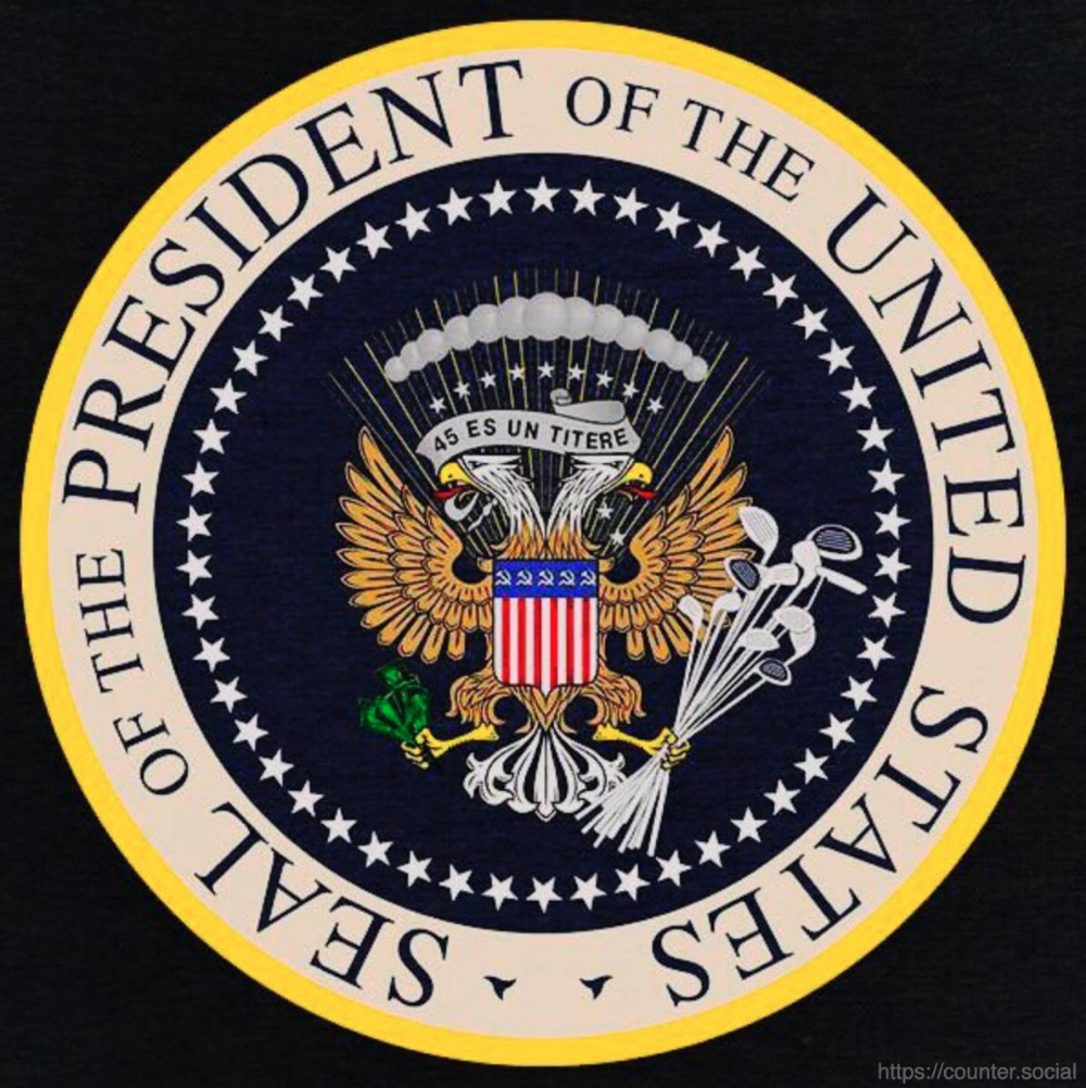 J3sŧ3r Dcŧudl º On Twitter For Anyone Who Wants A Clearer View Of The Actual Presidential Seal That Was Presidential Seal Anti Trump Signs Presidential