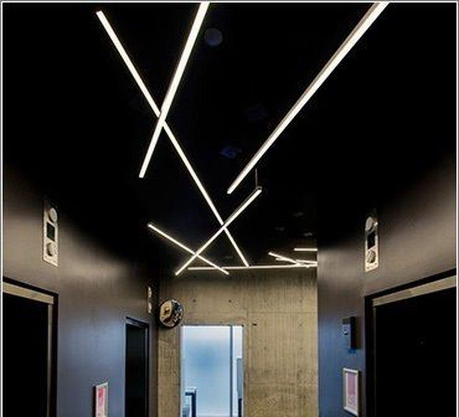 Modern Contemporary Led Strip Ceiling Light Design 25 Hoommy Com Ceiling Light Design Lighting Design Modern Lighting Design