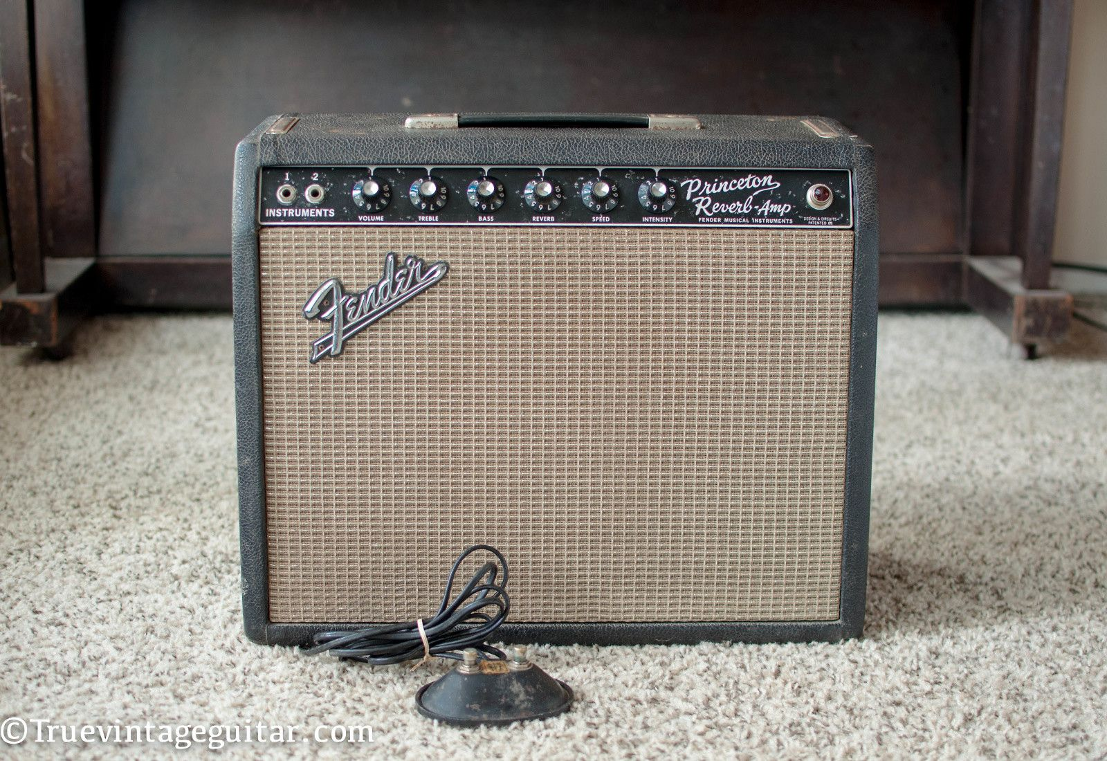 small resolution of vintage original fender princeton reverb 1965 with footswitch reverb
