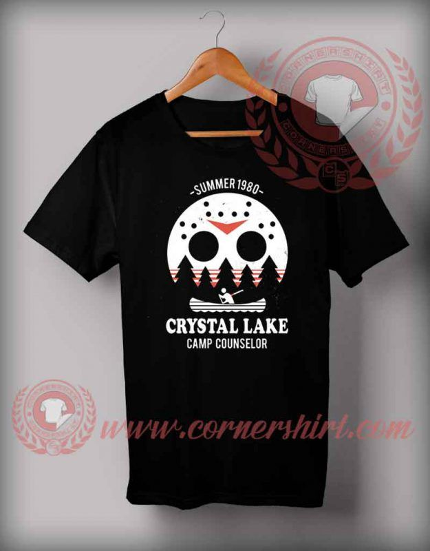 18226a589b09 Crystal Lake Camp Counselor T Shirt - Halloween Shirts For Adults in ...