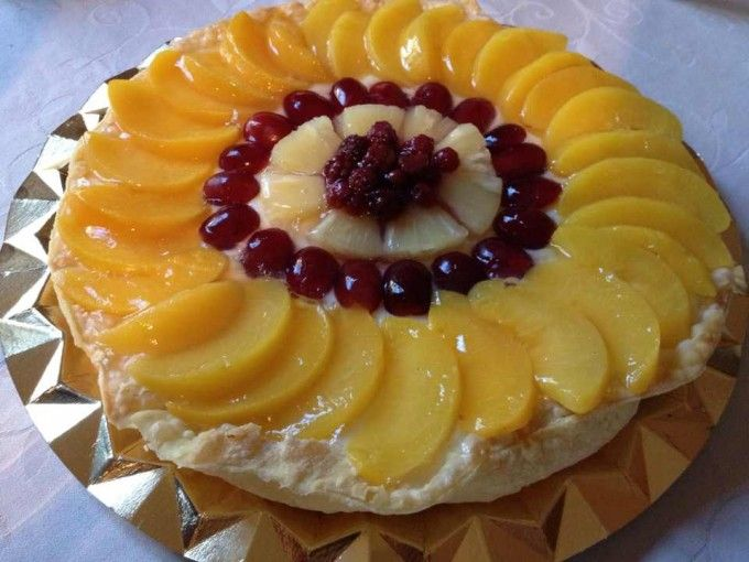 Tarta De Frutas Con Crema Pastelera Tartas Tarta De Fruta Recetas De Comida