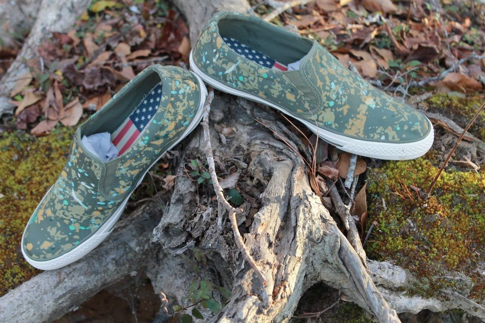 a0801beafe REAVE CAMO SPLATTER LOW. POLO RALPH LAUREN. AWESOME CANVAS. SNEAKERS SHOES.  SIZES 7.5 9 10.5 11 11.5 13. FOR ACTION NEW IN THE BOX.
