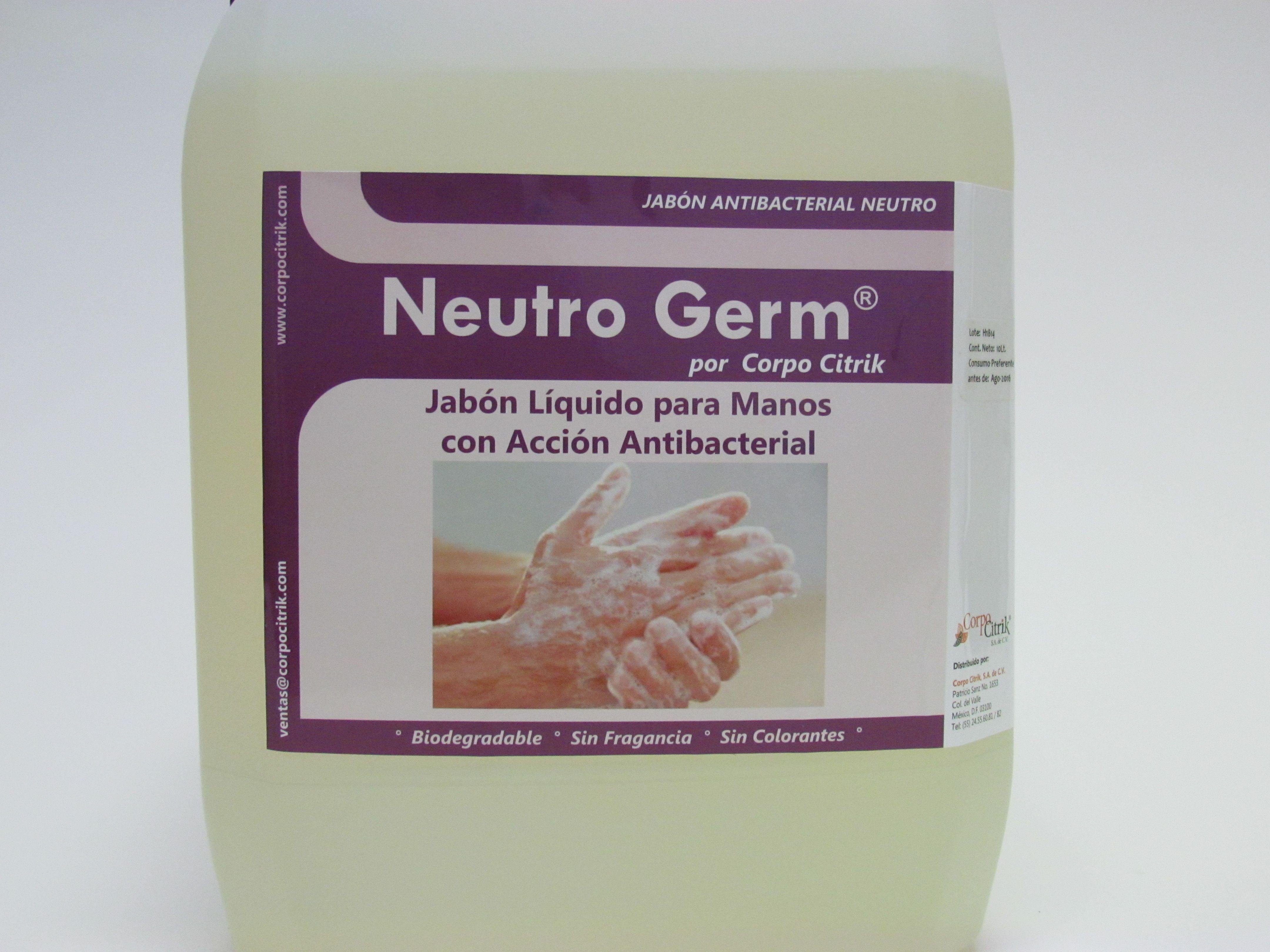 Neutro germ jab n germicida neutro para manos - Jabon neutro para limpiar ...