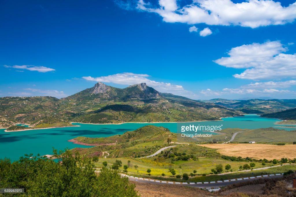 Rio Guadalete from Zahara de la Sierra   Cadiz Province, Andalusia, Spain.   #stockphotos #gettyimages #print #travel