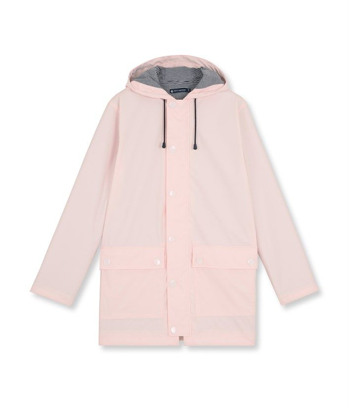 6fade842e3b91 Women s water-repellent raincoat Fleur pink - Petit Bateau