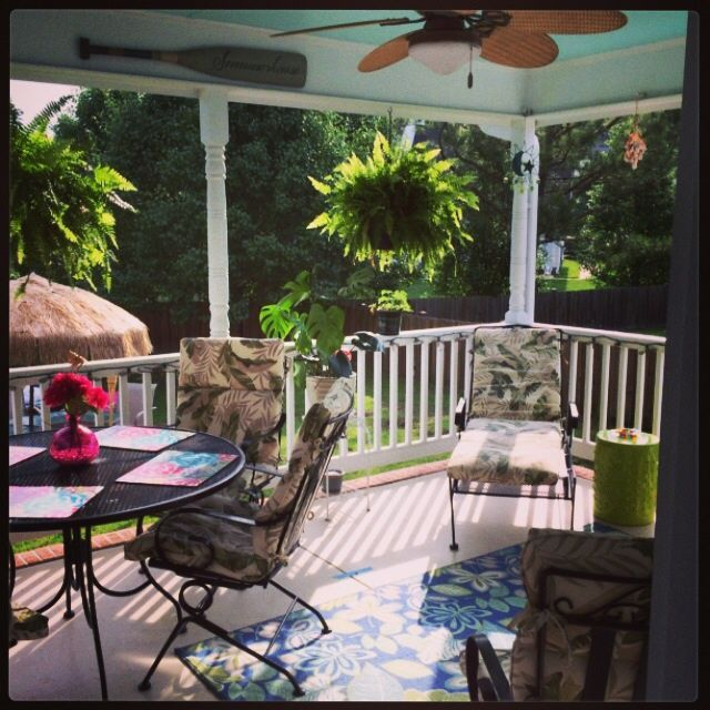 Porch in the early morning