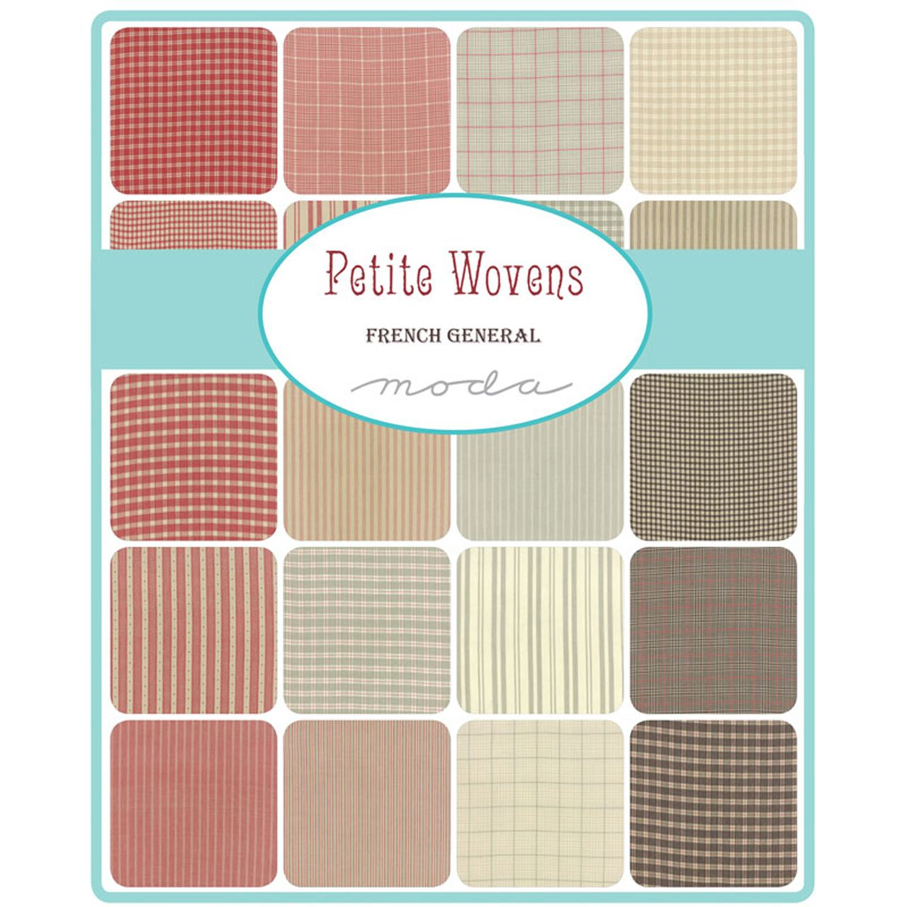 Crazy Quilt Girl Fabric Shop - PETITE WOVENS Charm Pack by French ... : crazy quilt fabric packs - Adamdwight.com