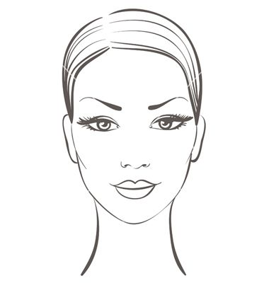 Woman Face Vector Image On Vectorstock Face Template Face Drawing Face Stencils