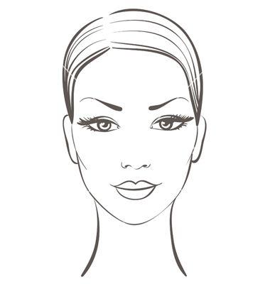 woman face vector on vectorstock obrázky a stencil pinterest