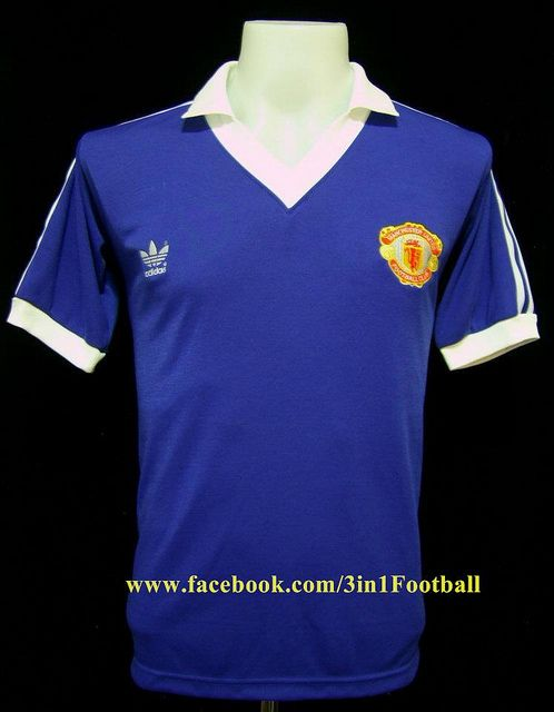 Manchester United 1980 Away Blue Classic Football Shirts Blue Football Shirt Football Shirts