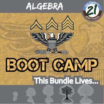 Boot Camp -- ALGEBRA BUNDLE -- 6 Differentiated Practice Sets!