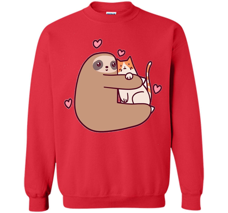 Sloth love Cat T-shirt