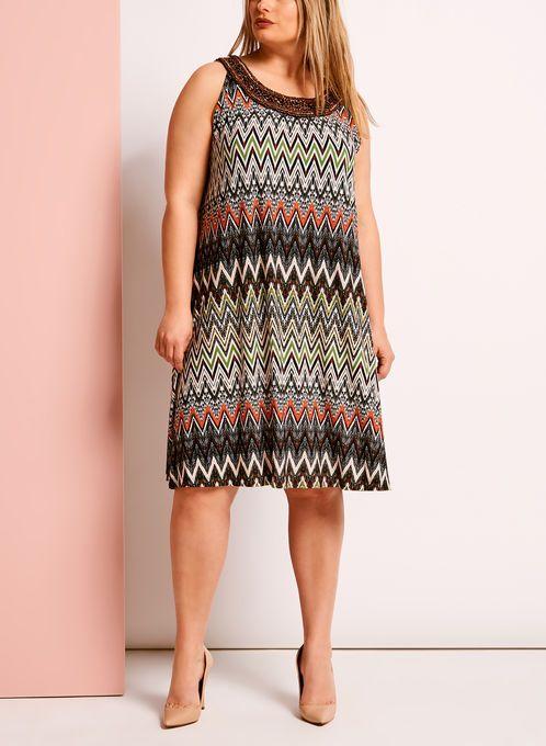 robe motif zigzag avec col perl orange hi res garde robe pinterest robes. Black Bedroom Furniture Sets. Home Design Ideas