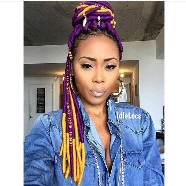 What's the craziest yarn color you would do? @iamjaelroumain did purple and gold  Leave colors below