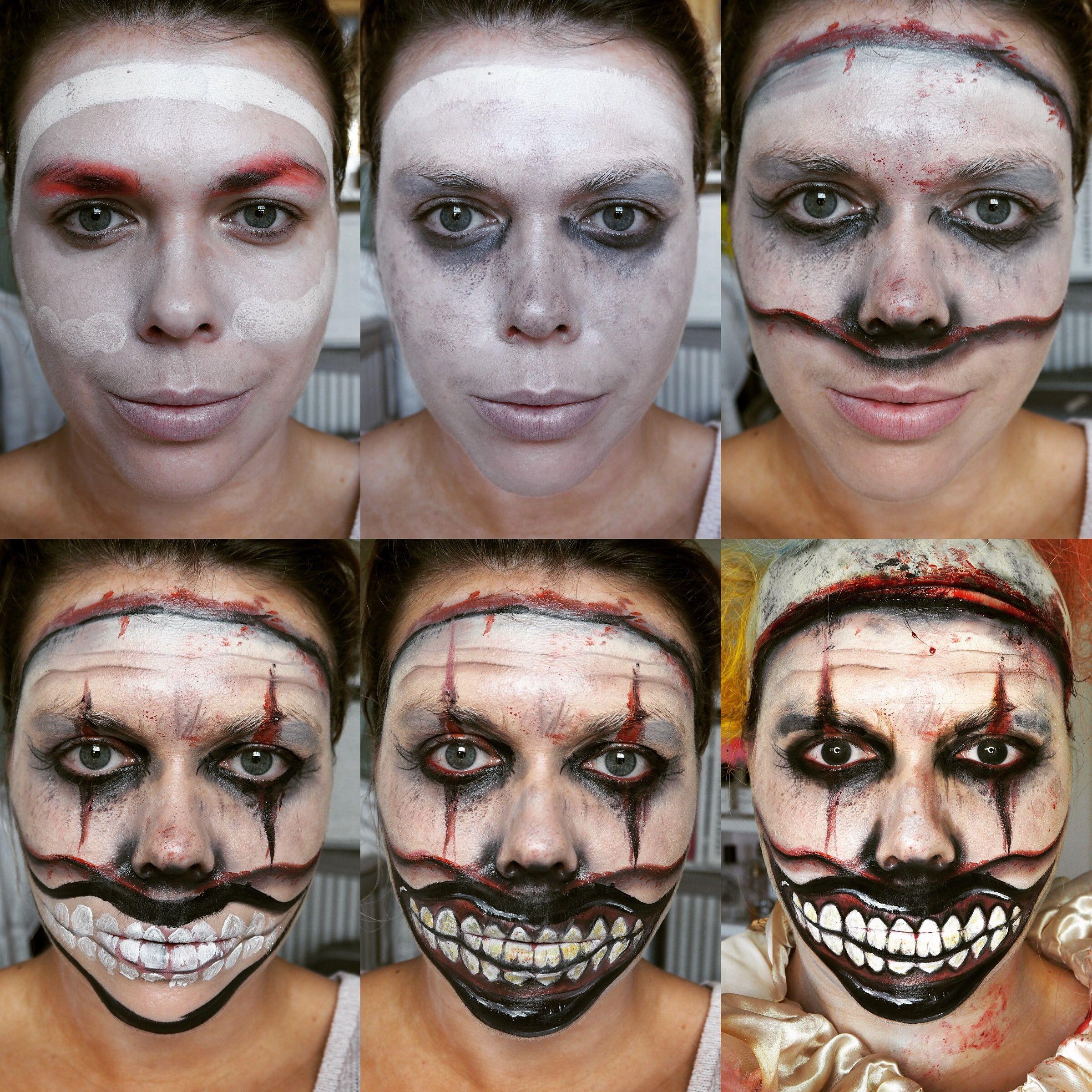 Halloween makeup tutorial : Twisty the clown from American Horror ...