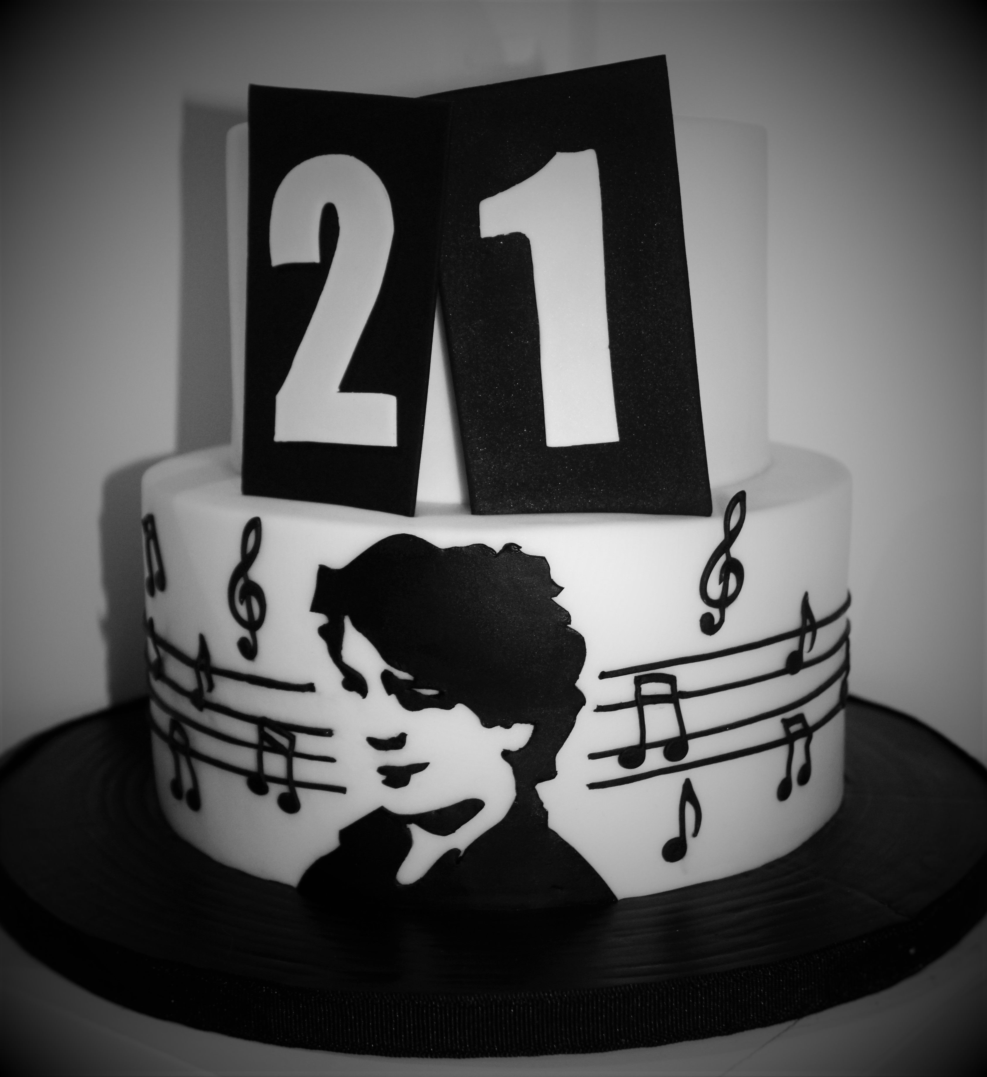 Music Themed 21st Birthday Cake For A Musical, Libertines