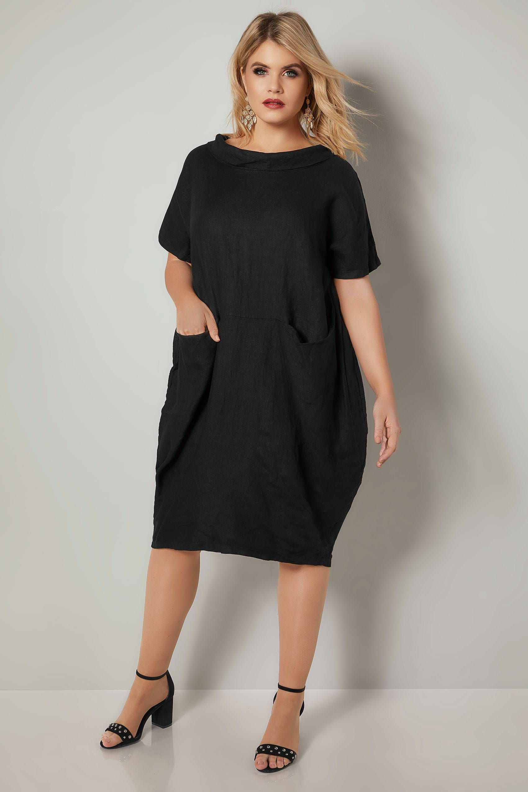 90e01f2a40a PAPRIKA Black Oversized Dress With Front Pockets in 2019 ...