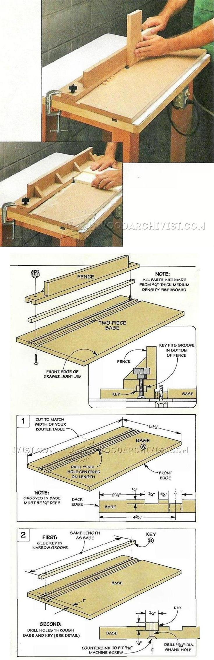 Drawer Joint Jig - Drawer Construction and Techniques | WoodArchivist.com