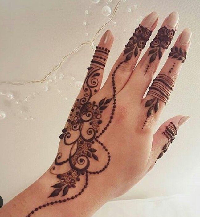 Easy arabic mehendi designs for left hand also eye catching tattoos on henna pinterest rh br