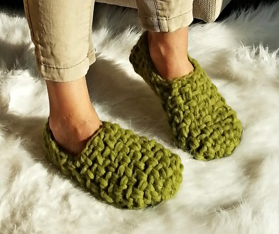 200e75fd1f1e9 Womens slippers, Merino Wool Slippers, Crochet slippers, Gift for ...