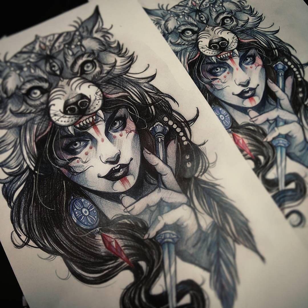 Wolf Headdress Tattoo: Image Result For Princess Mononoke Tattoo