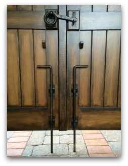 Coastal Bronze Cane Bolt Latches The Double Gates Into Courtyard Pavers This Is A Heavy Duty For Fixing One Side Of Gate Or Door