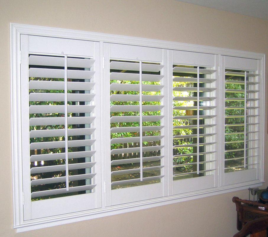 Charming Plantation Shutters Costco Creamy White Window