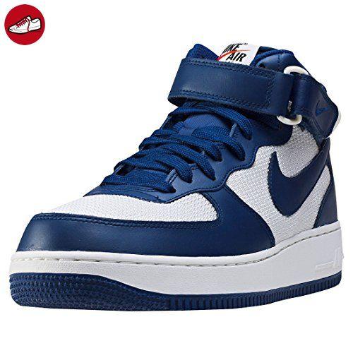 nike air force 1 mid weiss blau