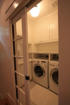 Laundry Room With French Pocket Doors 1920 Craftsman Rehab In