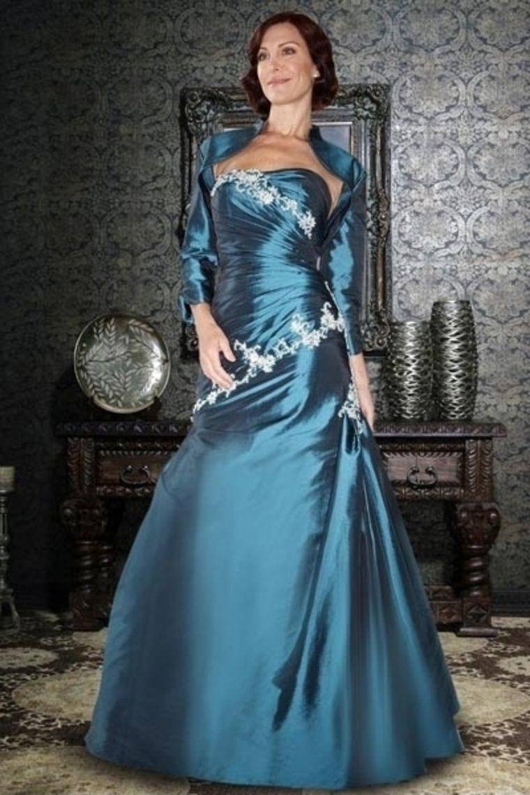 Floor Length Blue Sheath Column Mother Of The Bride Dresses Under ...