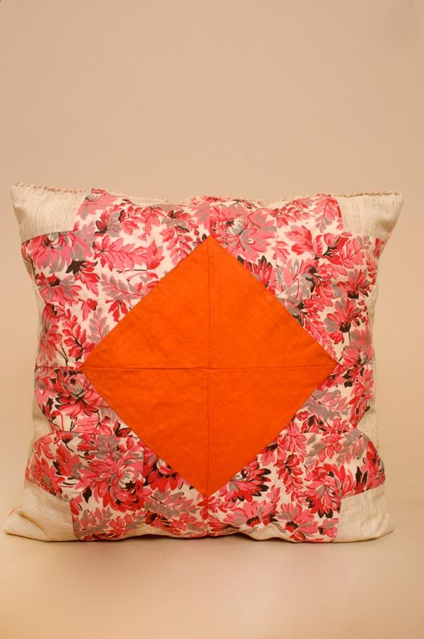 patchwork pillow vintage