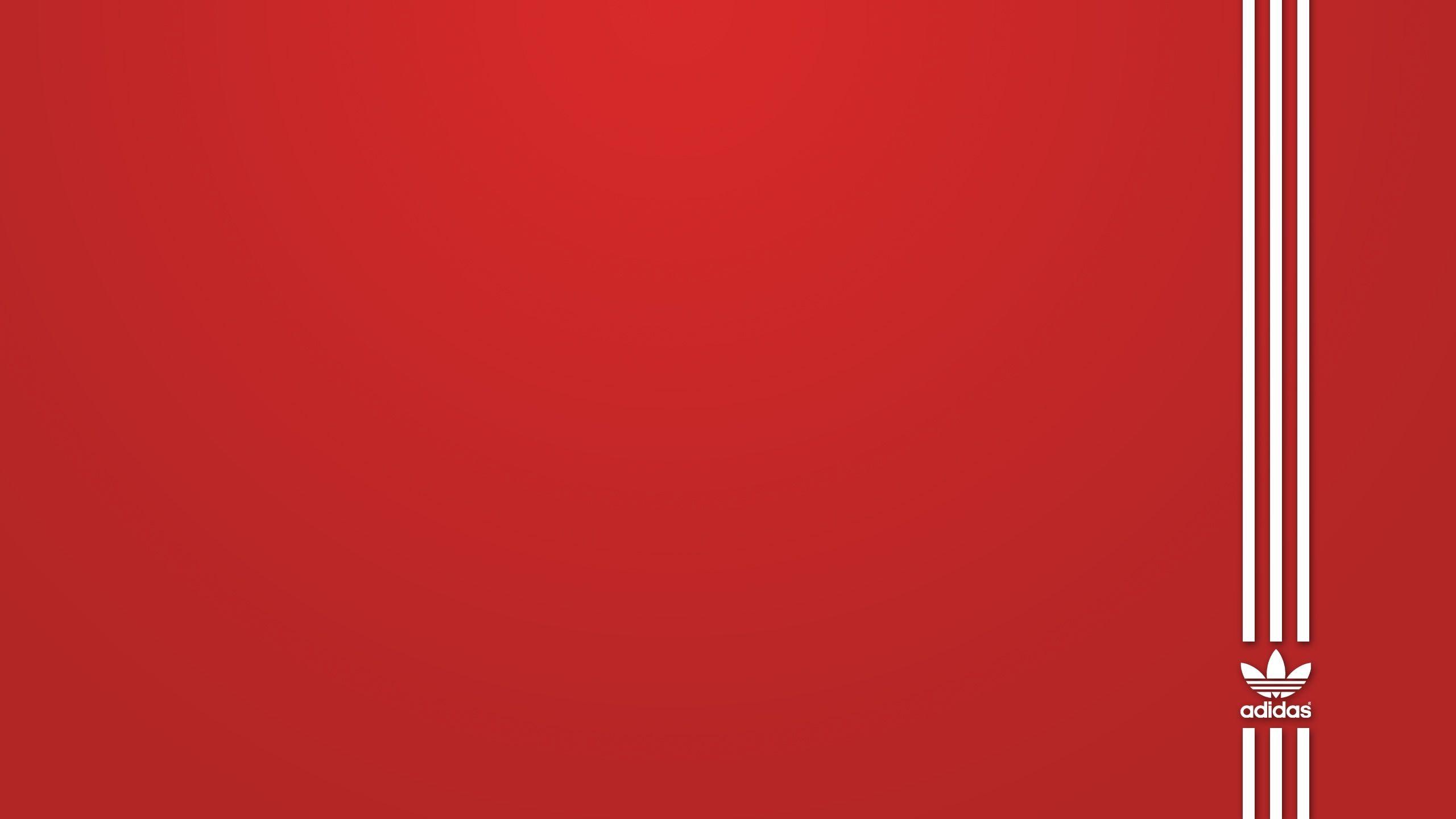 2560x1440 Adidas Red White 赤い壁紙, 壁紙, デスクトップ