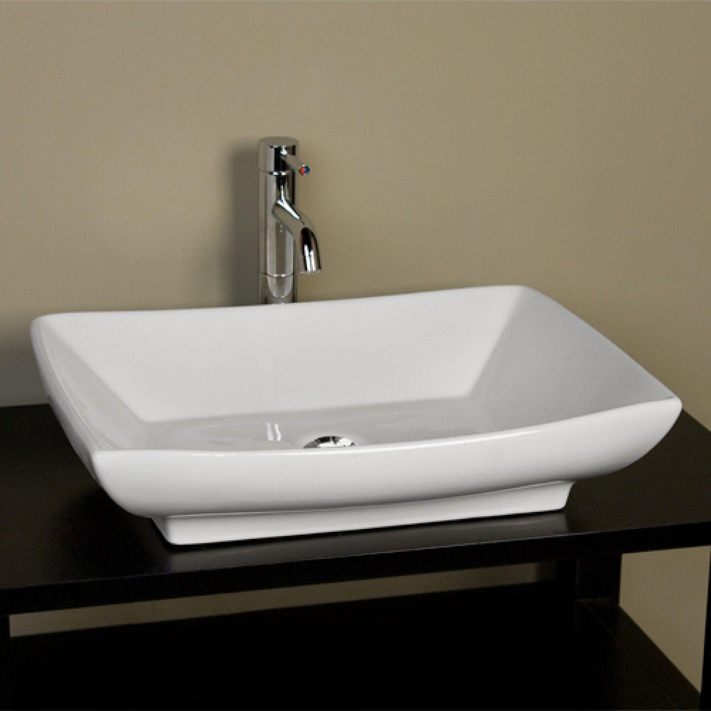 Mollie Rectangular Porcelain Vessel Sink