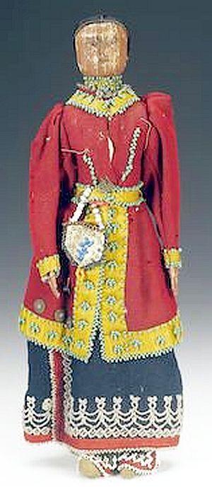 An Iroquois corn doll  | Antique Native American Dolls