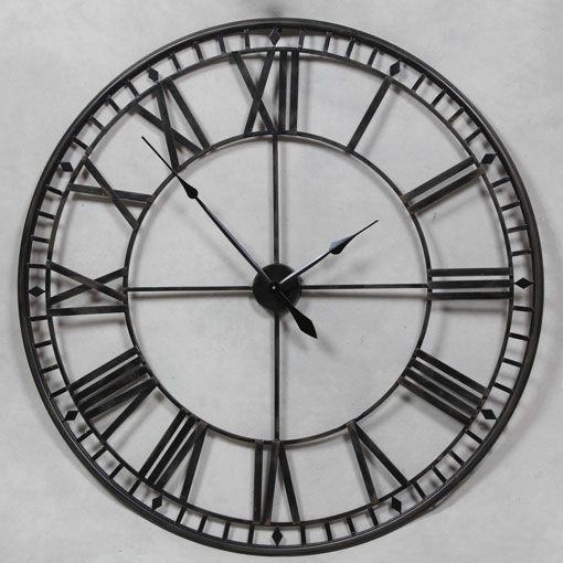 LARGE 120CM ANCIENT ANTIQUE BLACK WALL CLOCK carol Pinterest