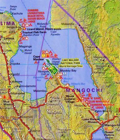 Lake Malawi Africa Map.Southern Lake Malawi Map Malawi Maps Africa Maps That Include