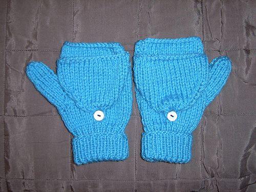 2 Needle Flip Top Mitten Pattern On P3 Knit Happens Pinterest