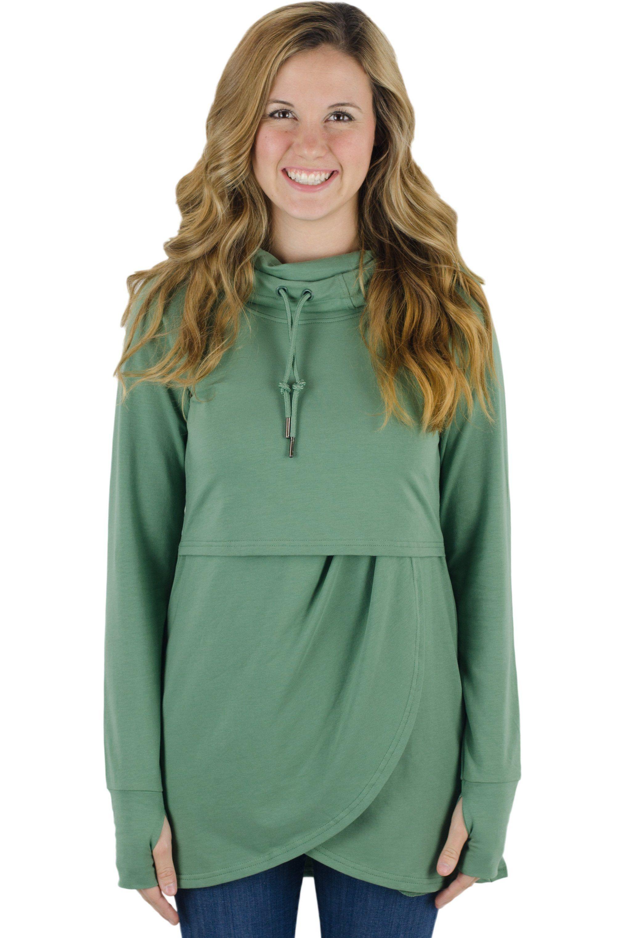 c234c501aea65 Petal Front Nursing Hoodie   Products   Maternity hoodie, Nursing ...