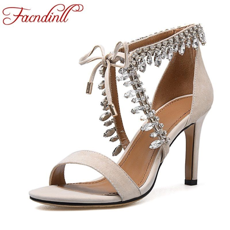 2017 sexy sandals plus size summer women extreme high heel sandals suede leather rhinestone wedding superstar shoes woman pumps