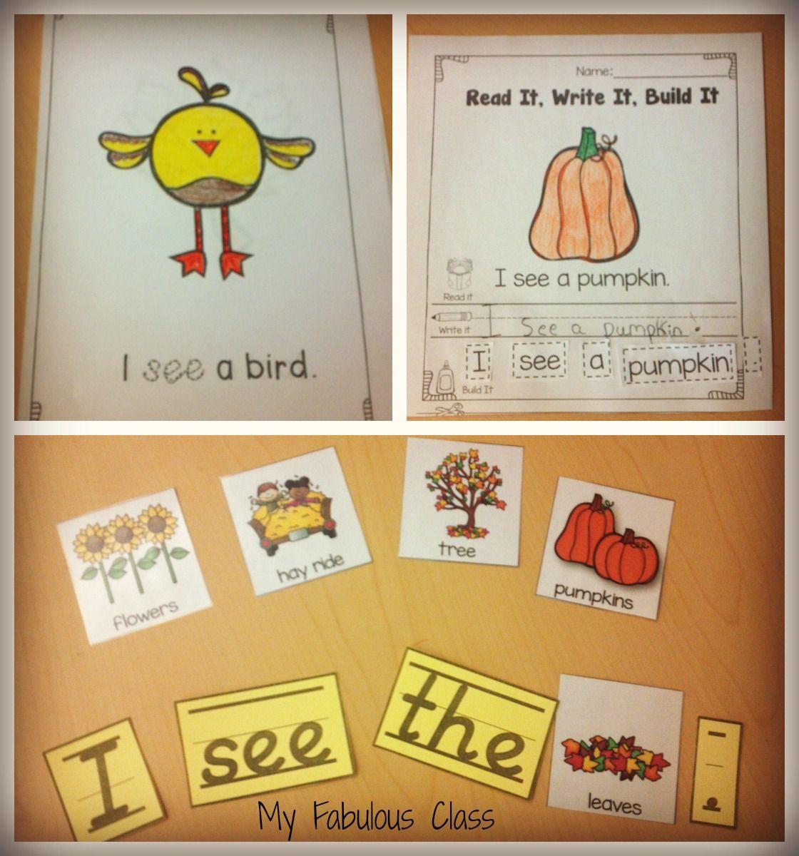 Fall Read Build Write Simple Sentences